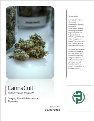 cannabis cultivation dispensary business plan template
