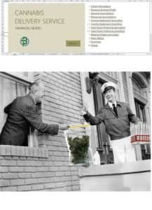 cannabis delivery financial model