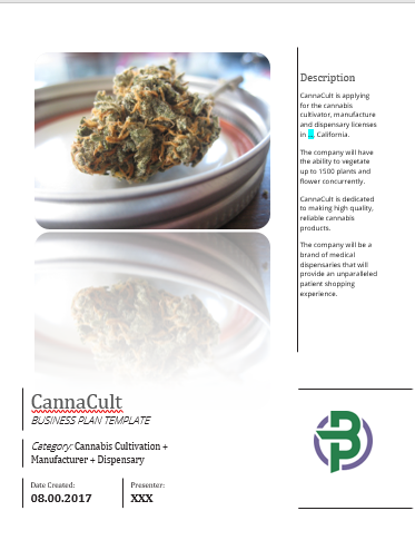 cannabis cultivation manufacturing dispensary business plan template