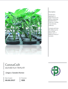 cannabis clones nursery business plan template