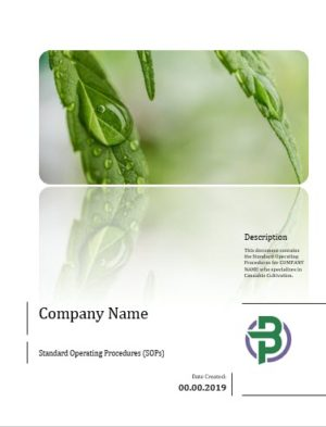 Cannabis Cultivation Business Standard Operating Procedures