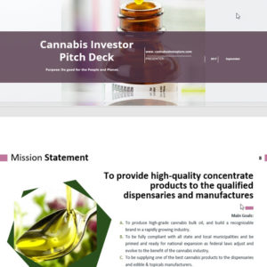 Cannabis Investor Pitch Deck Template, Extraction