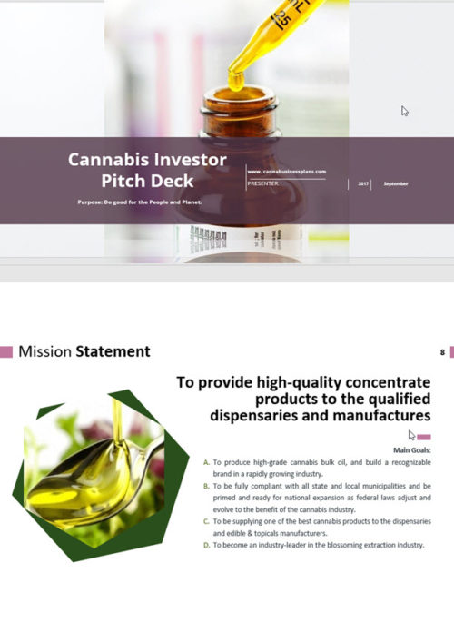 Cannabis Investor Pitch Deck Template Extraction