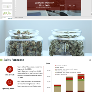 Cannabis Dispensary Investor Pitch Deck Template