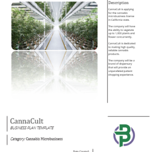 Cannabis Microbusiness Business Plan Template for Cultivation, Manufacturing and Retail