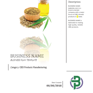 CBD Products Manufacturing Business Plan Template