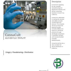Cannabis Manufacturing and Distribution Business Plan Template