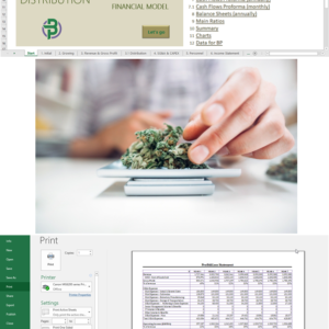 Cannabis Cultivation + Extraction + Manufacturing + Distribution Financial Model