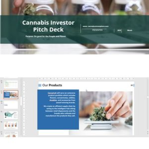 Cannabis Investor Pitch Deck Template for Distribution