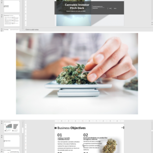 Cannabis Investor Pitch Deck Template for Cultivation and Retail