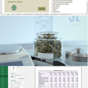 Cannabis Microbusiness Financial Model for Manufacturing/ Distribution/ Retail