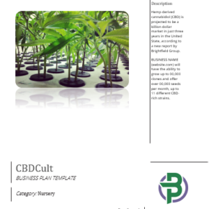 CBD Hemp Clones and Seeds Nursery Business Plan Template
