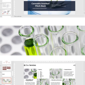 Cannabis Investor Pitch Deck Template for a Testing Laboratory