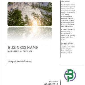 Hemp Cultivation Business Plan Template
