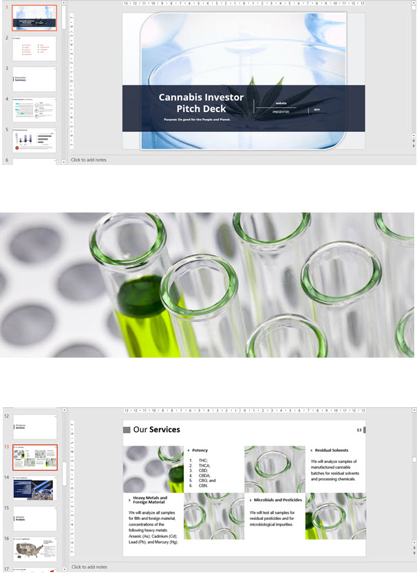48beef88 Cannabis Investor Pitch Deck Template Testing Laboratory