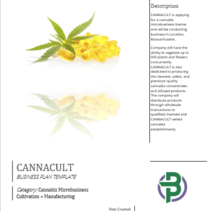 Cannabis Microbusiness, Cultivation + Manufacturing Business Plan Template