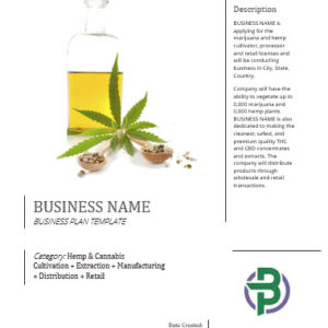 Hemp and Cannabis Vertically Integrated Business Plan Template